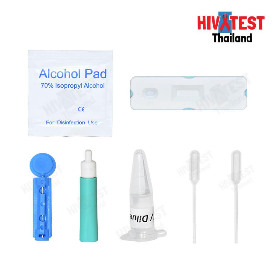 HIV Test Product อุปกรณ์ในกล่อง
